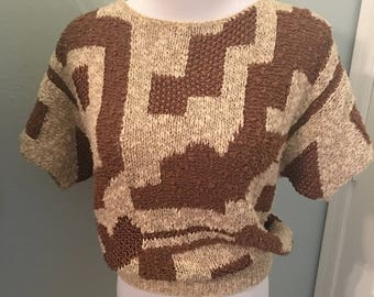 Amazing Vintage Neiman Marcus Abstract Sweater