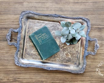 Antique Tray - Antique Serving Tray - Antique Silverplate Tray - W M Rogers Serving Tray - Old Butler Tray -