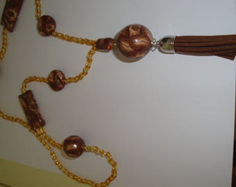 Chocolat polymer necklace