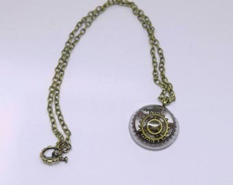 Steam Punk Necklace| Steampunk Jewelry| Pendant Necklace| Gears| Industrial Jewelry