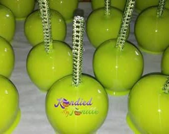 1 Dozen Lime Green Candy Apples