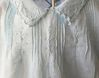 Vintage 1940 Maderia Heirloom Baby Dress