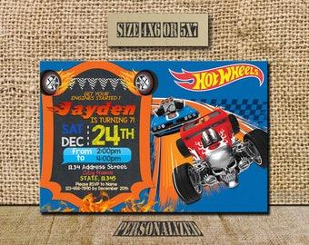 Hot Wheels Invitation / Hot Wheels Birthday / Hot Wheels Birthday Invitation / Hot Wheels Party / Hot Wheels Invite / Hot Wheels / SL61