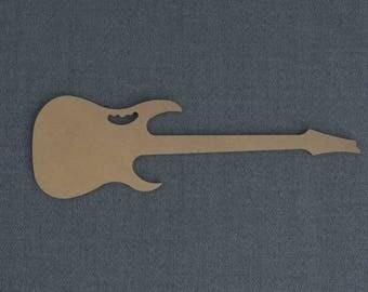 Guitar, Electric Guitar,  Steve Vi Ibanez, Wood Cutout, Unfinished Sign