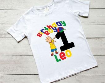 Caillou Theme Birthday Shirts, Caillou, Caillou Birthday Party, First Birthday, Custom Birthday Shirts