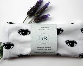Eye Pillow - Eye Print - Lavender and Flaxseed