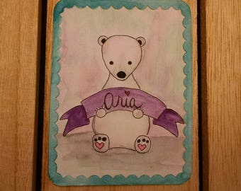 Polar Bear Personalized Card