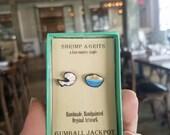 Handmade Shrimp & Grits Earring set