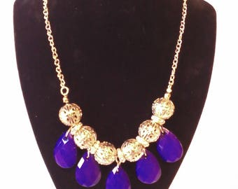 Gold & Purple 2 Pc. Costume Jewelry Set