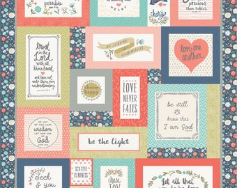 PREORDER - Heart and Soul by Deena Rutter and Seek Good Works for Riley Blake Designs Quilt Kit