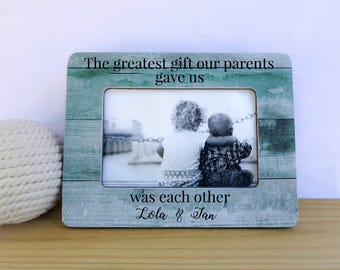 The Greatest Gift Our Parents Gave Us Was Each Other Frame Personalized Gift for Siblings  Nursery decor Brothers Sisters Frame