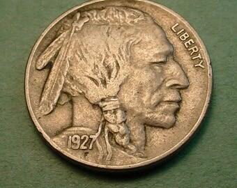 1927  Buffalo Nickel  Extra Fine   # ET6461
