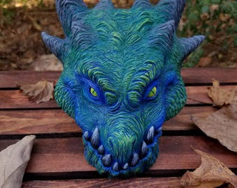 Green and Blue Dragon Plaque