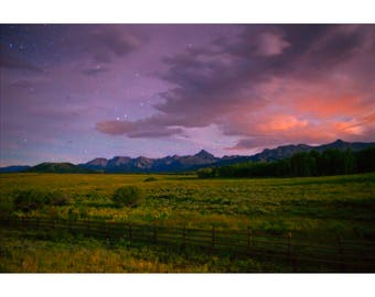 Midnight Moonset - Colorado landscape photography by Harry Durgin