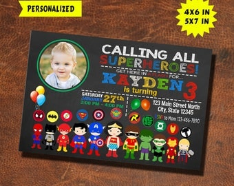 Superhero Invitation / Superhero Birthday / Superhero Invite / Superhero Party / Superhero Birthday Invitation / Superhero Party Invite