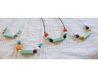 rectangles are fun! silicone teething necklaces