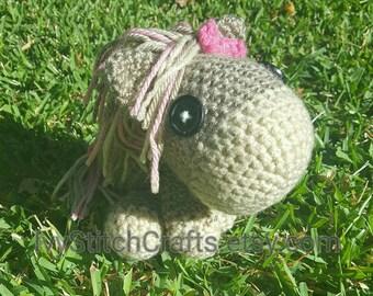 Crochet Pony Horse Plush Toy Animal