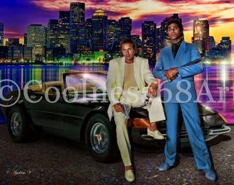 Miami Vice Original Art Print