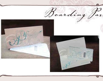 Boarding Pass ticket invitation