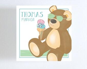 Teddy Bear Gift Tag // Calling Card // Gift Enclosure