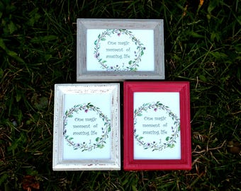 "3 Frames Set ""Classical trio""- Wedding Frames, Shabby Chic Rustic Picture Frames"
