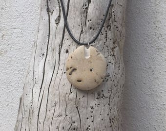 Natural Handcrafted Irish Beach Pebble Pendant Necklace