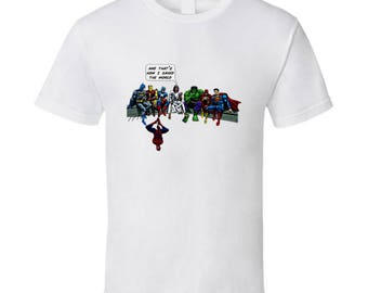 And That's How I Saved The World Jesus T Shirt