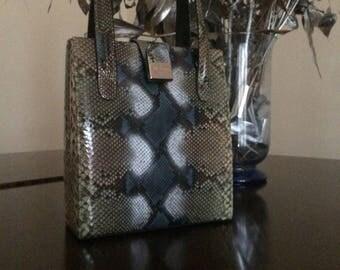 Bol Perdix Snakeskin Handbag Vintage