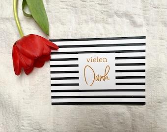 thank-you card - black/white