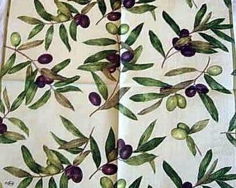 Paper towel olive branch