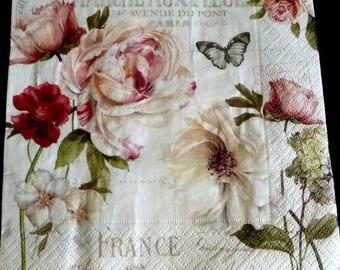 Flower market napkin