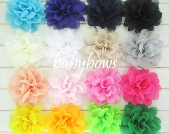 2 Big Flower Baby Girl Flower Hair Clip 1 Pair