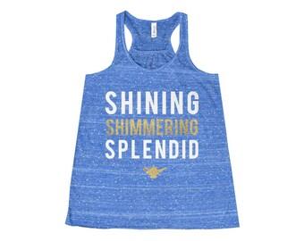 Shining Shimmering Aladdin Flowy Racerback Tank