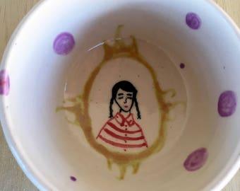Girl in bowl