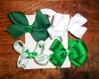 4 Bows- St. Patrick's Day Bow Set