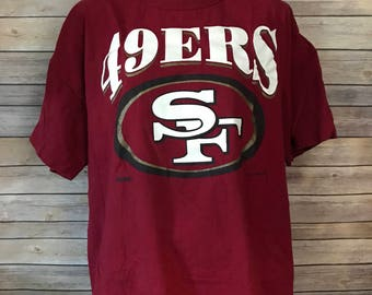 Vintage 90s San Francisco 49ers Russell Athletic T-Shirt (XXL)