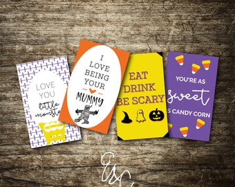 Halloween Lunch Box Notes - Instant Download - Printable Notes