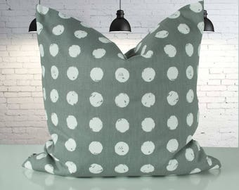 Steingraue Cushion cover with white dots, 50 x 50 cm