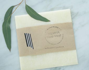 1 M Beeswax WRAP | Organic, Reusable Food Wrap | Biodegradable | Handmade with 100% natural ingredients