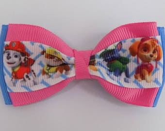 Paw Patrol Rescue Pups. Character hair bow, Girls hair bow, Baby hair bow, Hair bow for girls, Hair accessory, Character hair bow