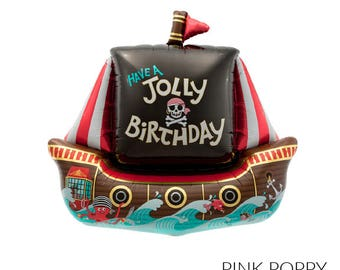 Jolly Pirate Ship Mylar Balloon - 36""