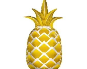 """Pineapple Mylar Balloon - 44"""""""