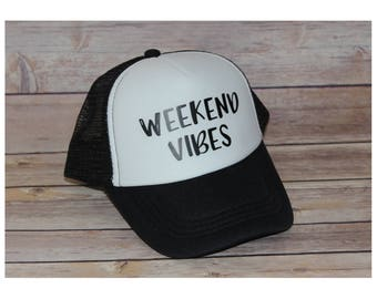 Weekend Vibes Toddler Trucker Hat