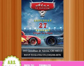 Disney cars, disney cars birthday, disney cars invites, disney cars card, disney cars digital, matey,  lightningmcqueen,