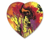 Heart shaped painting, or...