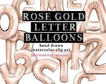 """16"""" Rose Gold Letter Balloons, Party, Event, Balloon Banner"""