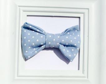 Blue Bow tie, Polka dot bow tie, Baby bow tie, Kids bow tie, Smash cake bow tie, First birthday bow tie, boys bow tie, blue boy bow tie, bow