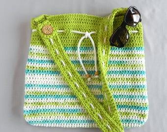 Summer bag, Handmade purse, Large shoulder bag