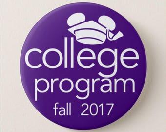 "Disney College Program [Customizable/Personalized] - 3"" Disney Button"