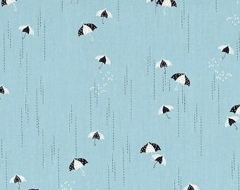 Rainbrella Mist, Charleston Fabric, Amy Sinibaldi, Art Gallery Fabrics, Umbrella, Spring Shower, Storm, Rain, High Thread Count, Dusty Blue